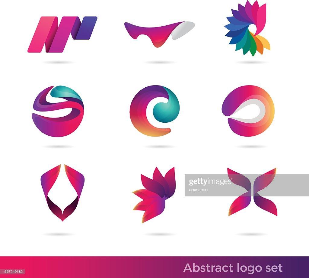 Creative abstract inspiration vector logo design template. Colorful Vector illustration logo set.