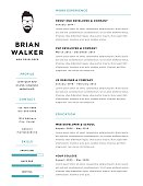 Creative and minimalistic personal vector resume / cv template