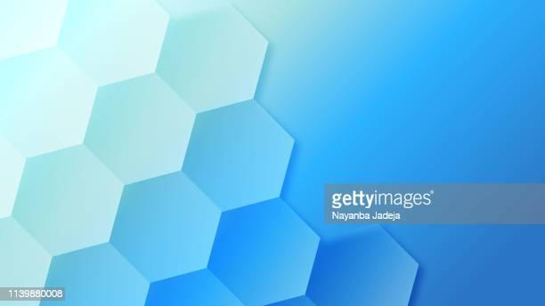 ilustrações, clipart, desenhos animados e ícones de fundo azul creativo do teste padrão da colmeia - repetição conceito