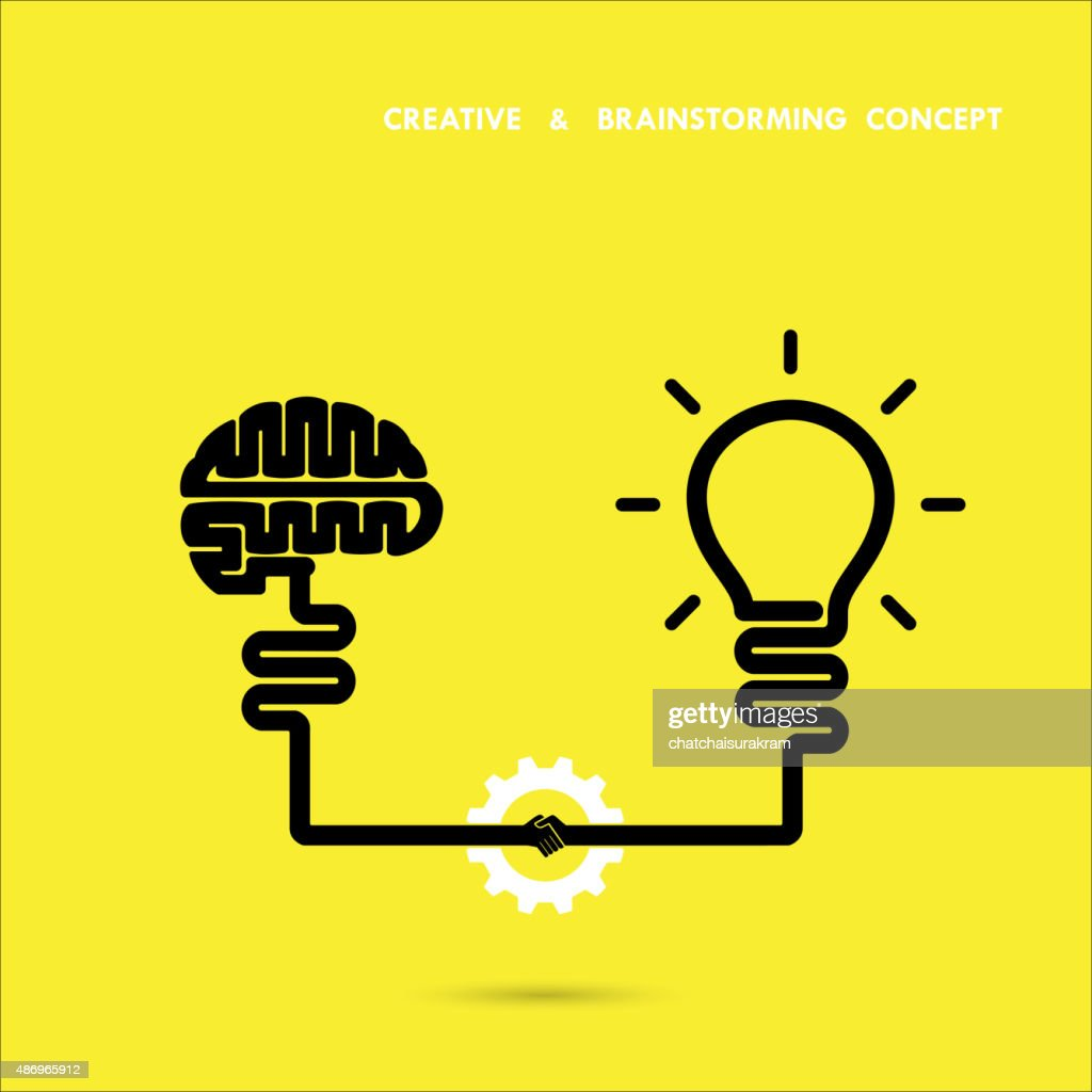 Creative brainstorm concept business and education idea, innovation and solution, creative design