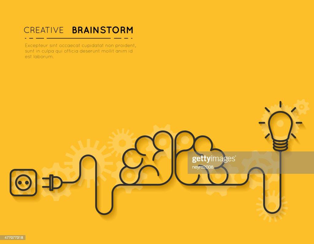 Creative brainstorm concept