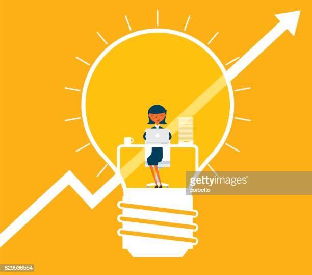 Création d'entreprise - femme d'affaires