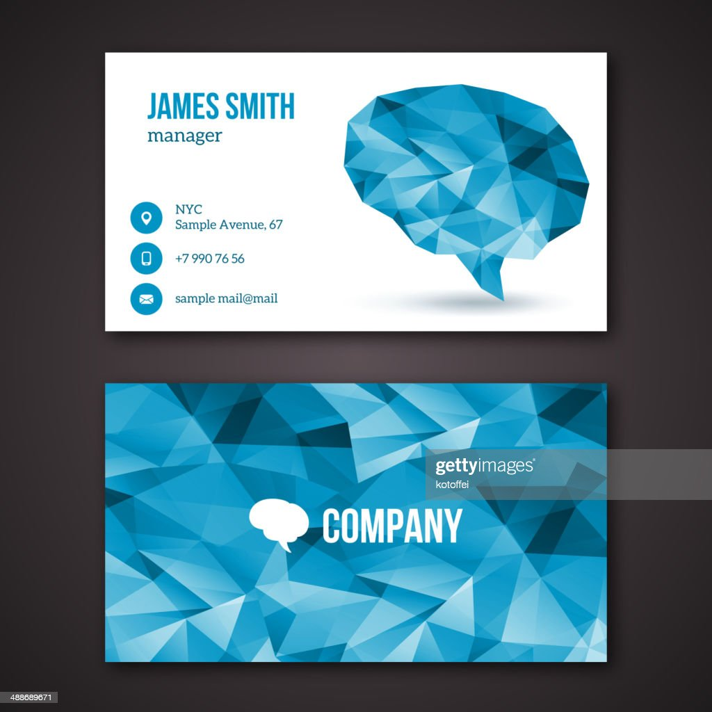 Creative business cards.
