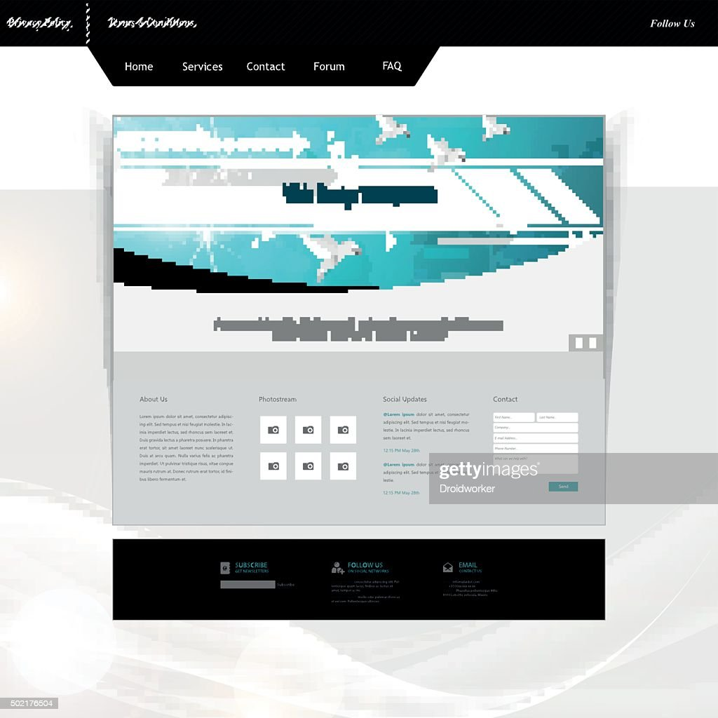 Creative Business website design template.