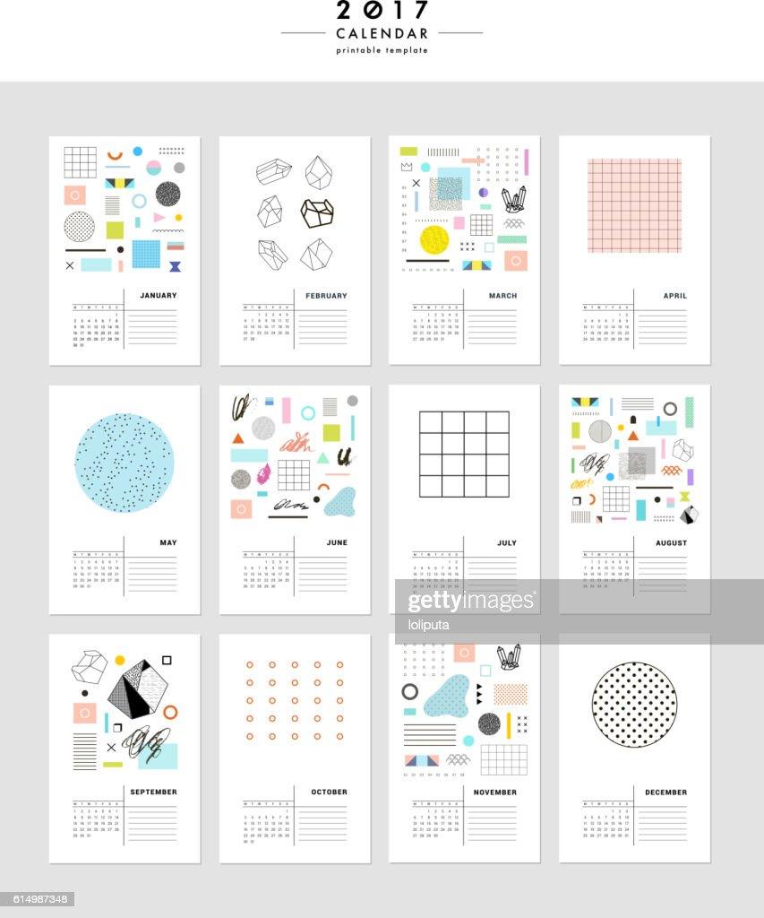 Creative Calendar 2017.