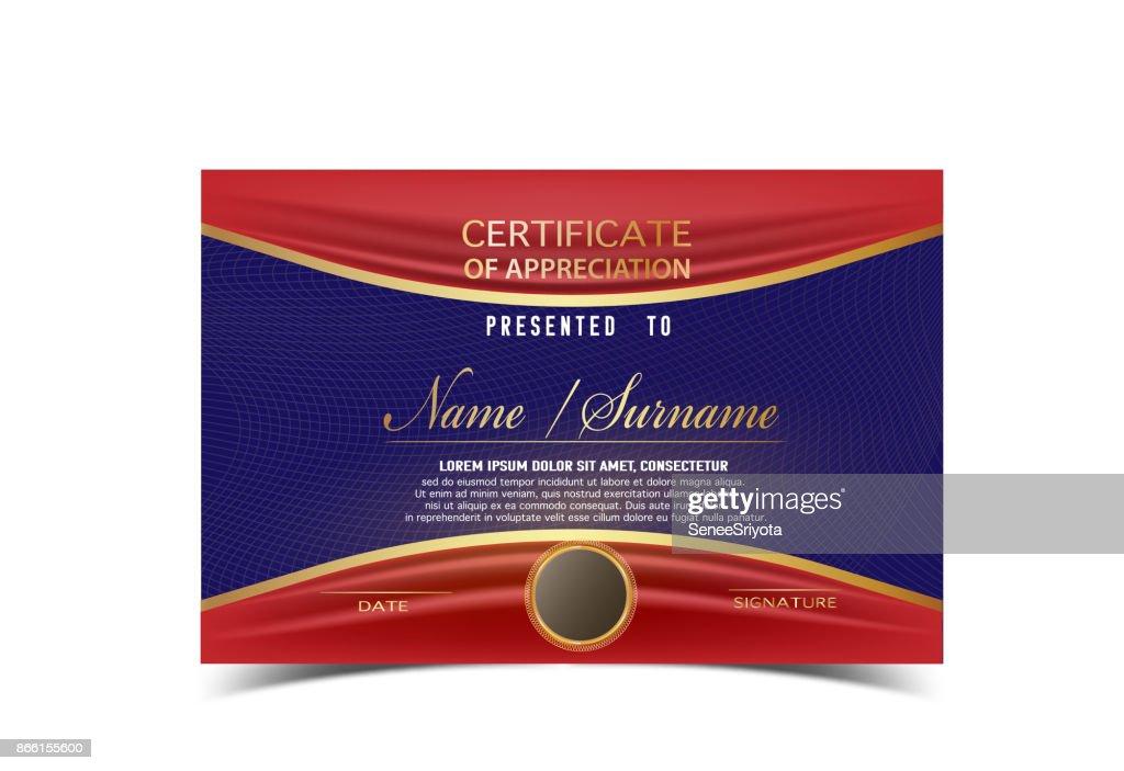 Kreative Zertifikatvorlage Für Fertigstellung Award Mit Goldenen ...