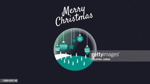 創造的なクリスマスの背景ベクトル図