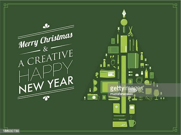 creative christmas card - christmas cash stock illustrations