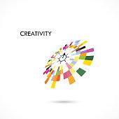 Creative circle abstract vector logo design template