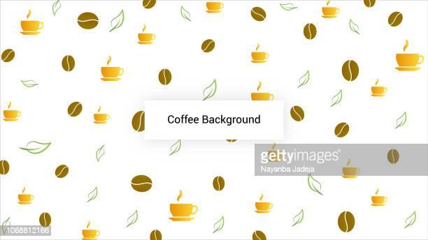Creative Coffee Seamless Background Pattern