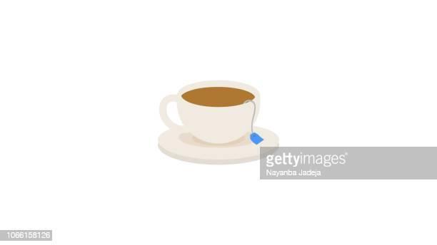 Creative coffee/tea cup design icon