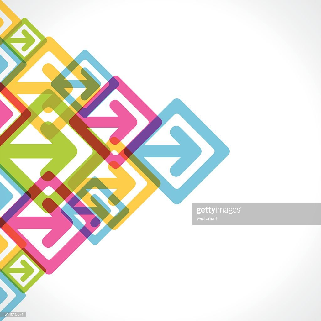 creative colorful arrow move background