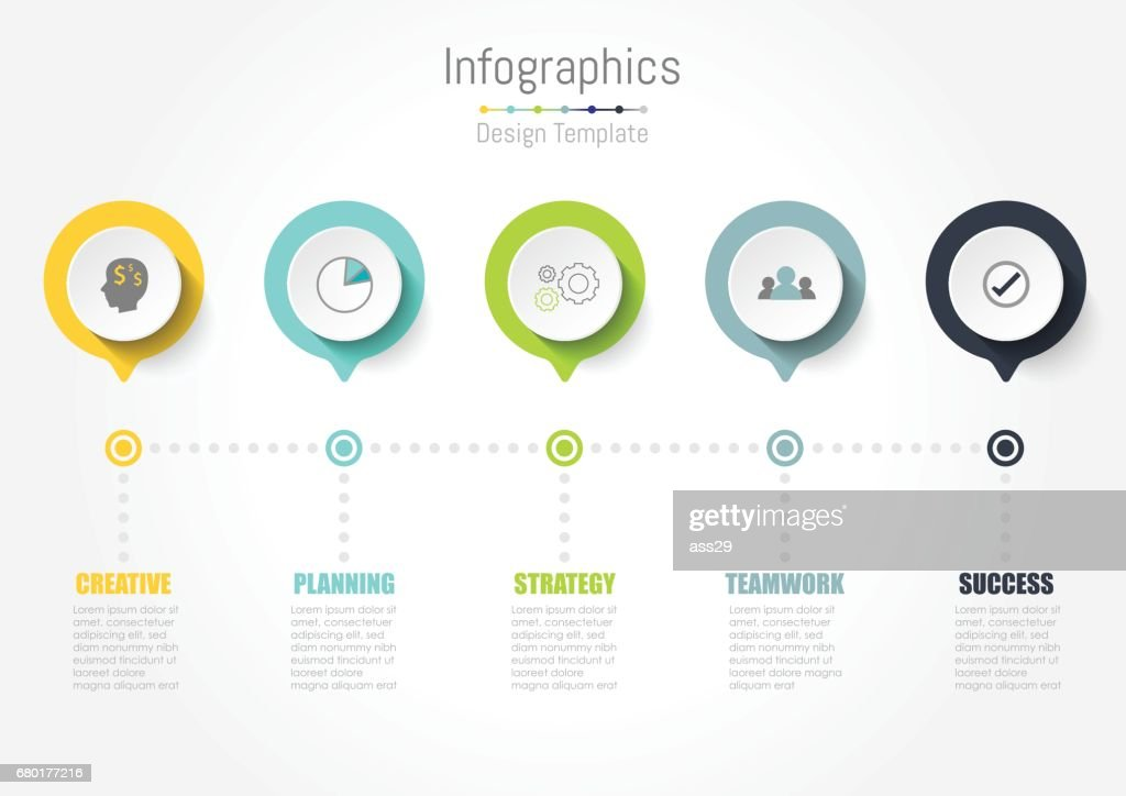 Creative concept business data for infographic