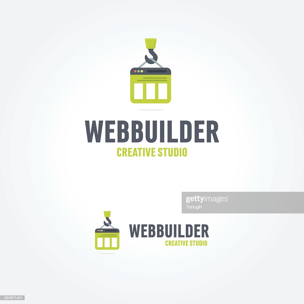 Creative concept for web studio iconic design