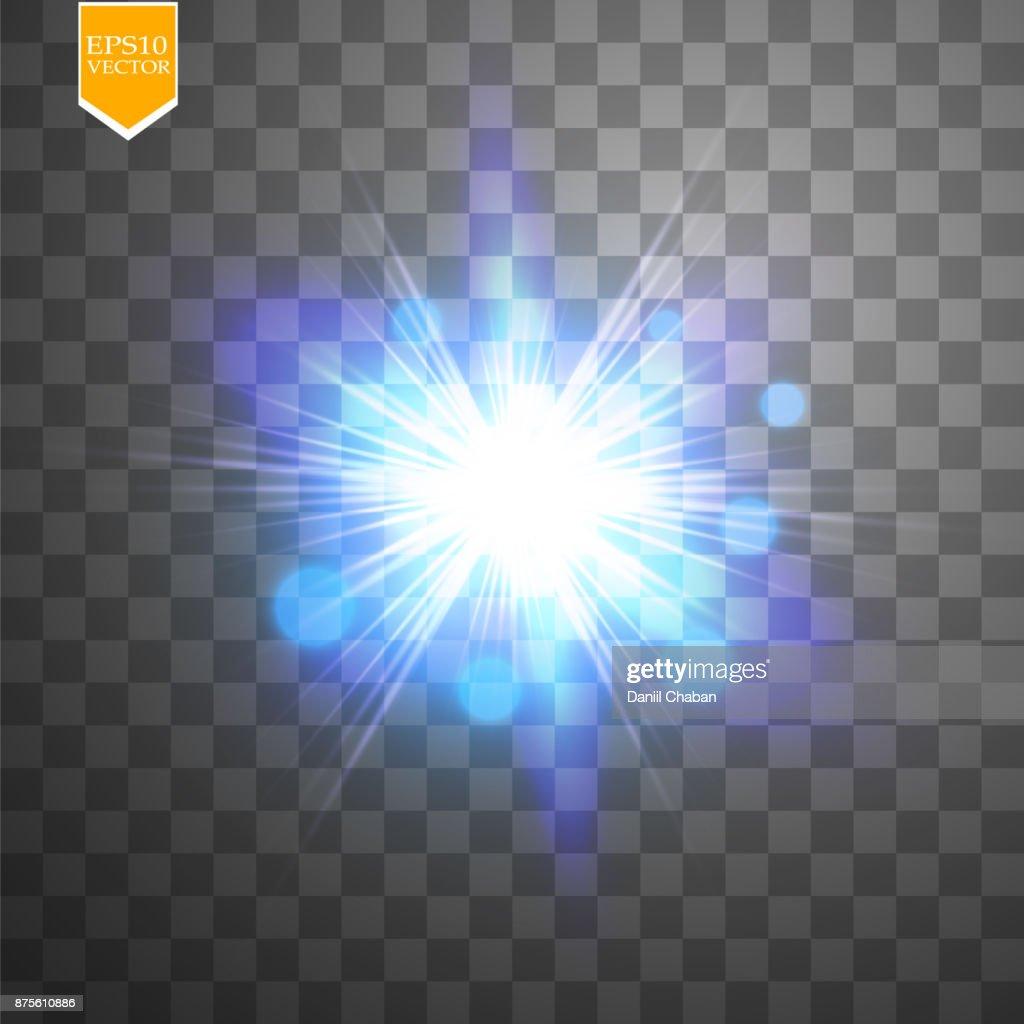 Kreativkonzept Vektorset Von Hellen Leuchteffekt Sterne Platzt Mit ...