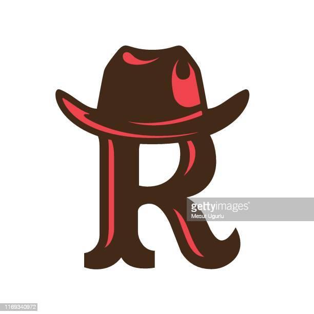creative cowboy logo - hat stock illustrations