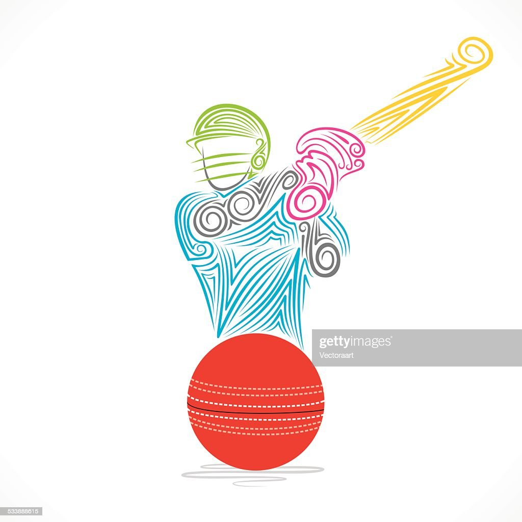 creative cricket player banner design