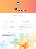 Creative CV / resume template.