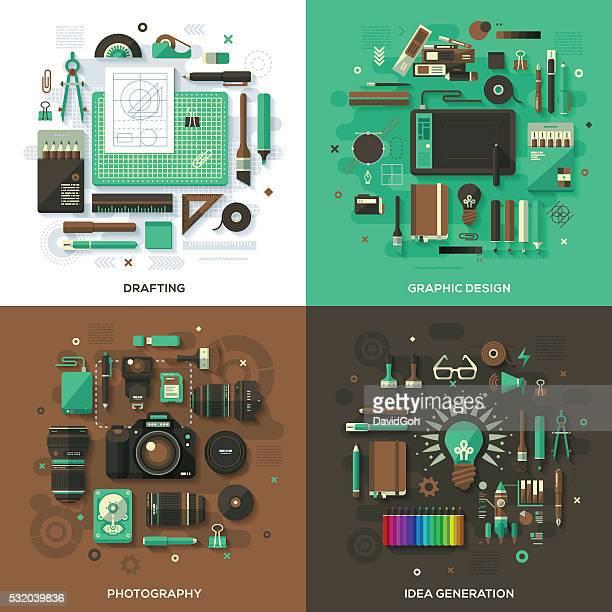 クリエイティブ& 設計サービスのコンセプト