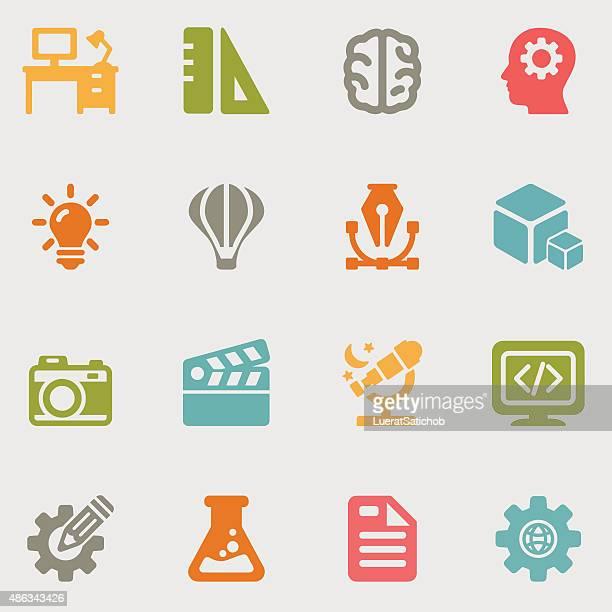 Creative Designer color variation icons   EPS10