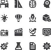 Creative Designer Silhouette icons | EPS10