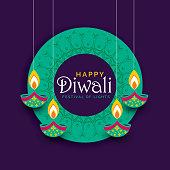 creative diwali festival poster design background