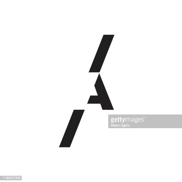 creative elegant letter a vector emblem - triangle shape stock illustrations