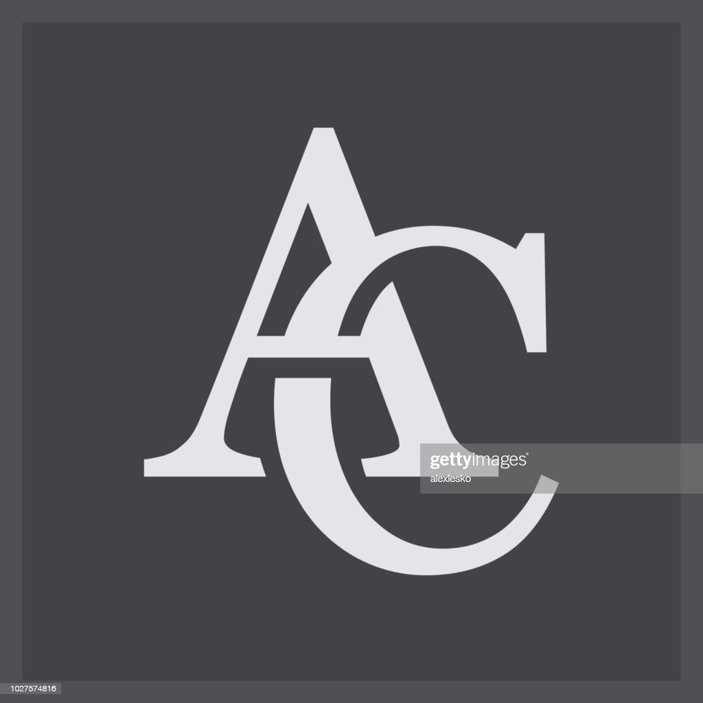 Creative elegant line curve vector logotype. Premium letter AC or CA logo design. Luxury linear creative monogram.