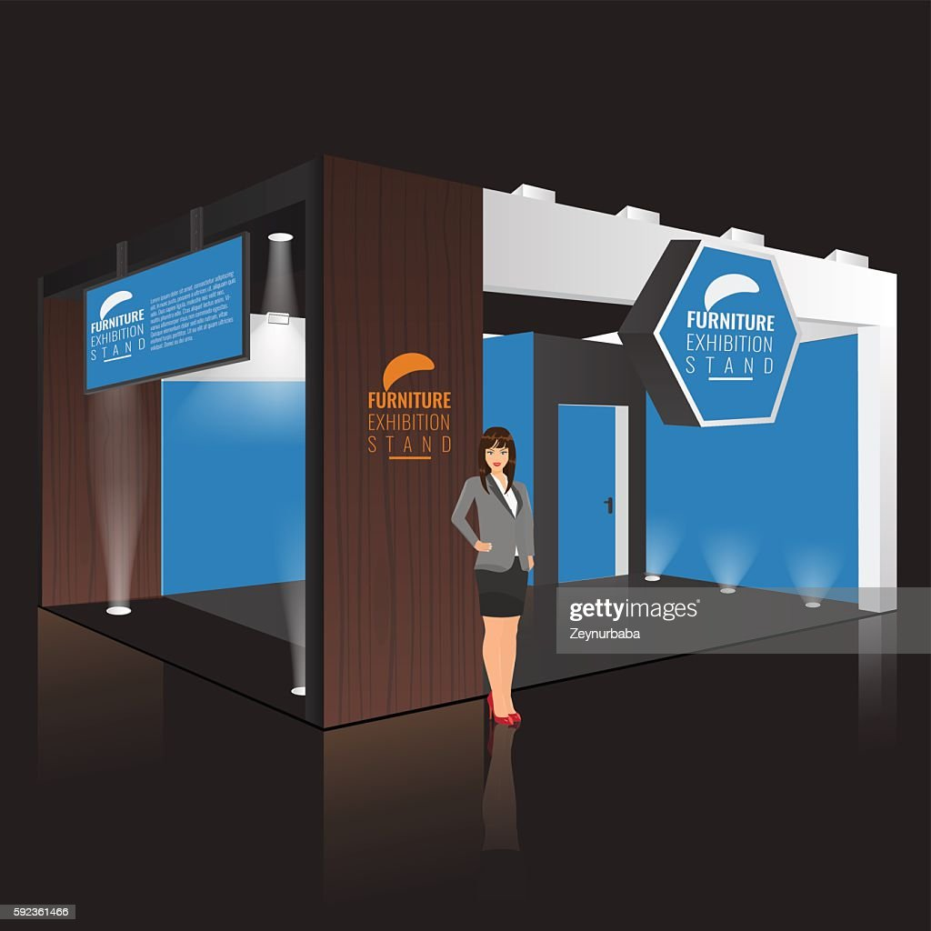Creative exhibition stand design. Booth template. Corporate identity vector