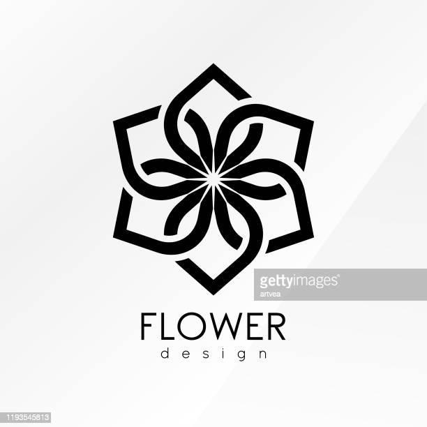 illustrazioni stock, clip art, cartoni animati e icone di tendenza di modello di design di ispirazione floreale creativa - capelli o peli