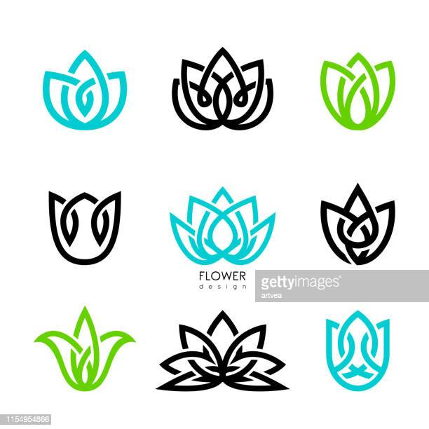 creative flowers inspiration vector design template. - logo stock illustrations