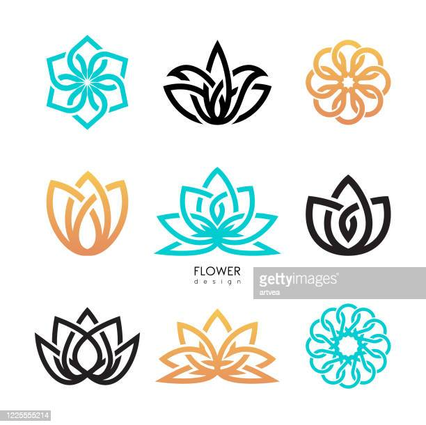 creative flowers inspiration vector design template - beauty stock illustrations