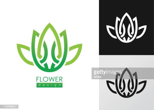 ilustraciones, imágenes clip art, dibujos animados e iconos de stock de plantilla de diseño de logotipo de vector de inspiración creativa flores. - boutique