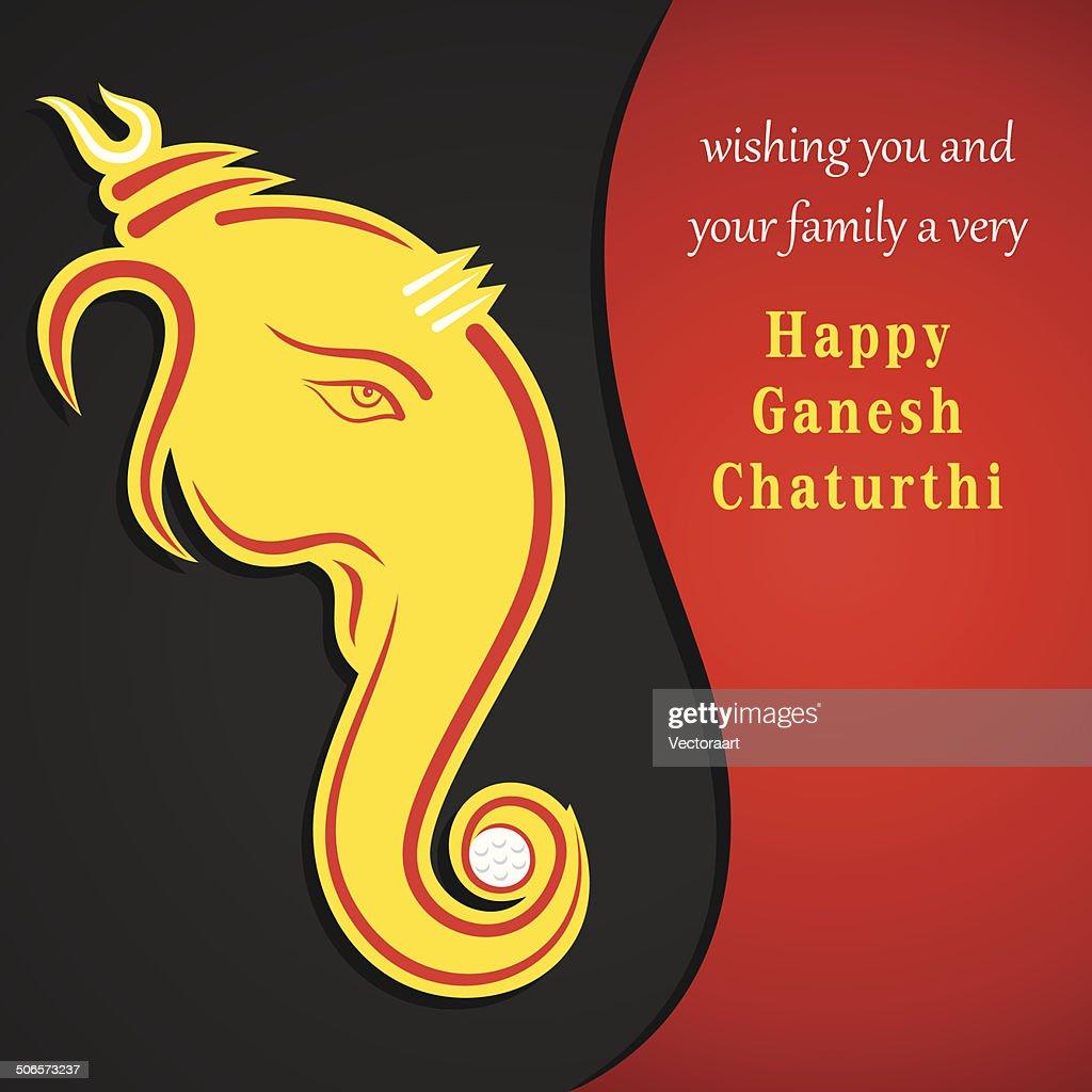 creative ganesh chaturthi festival greeting card background