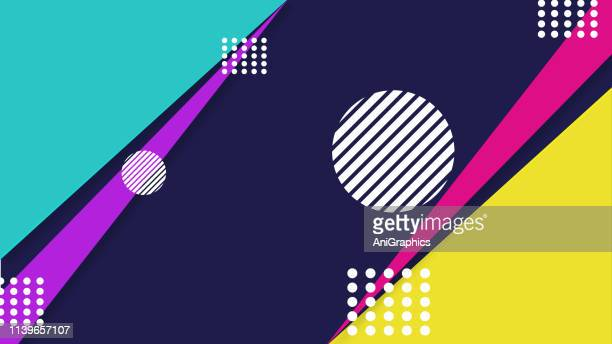 creative geometry pattern background - funky stock illustrations