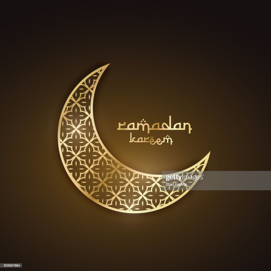 creative golden moon with abstract pattern ramadan festival desi