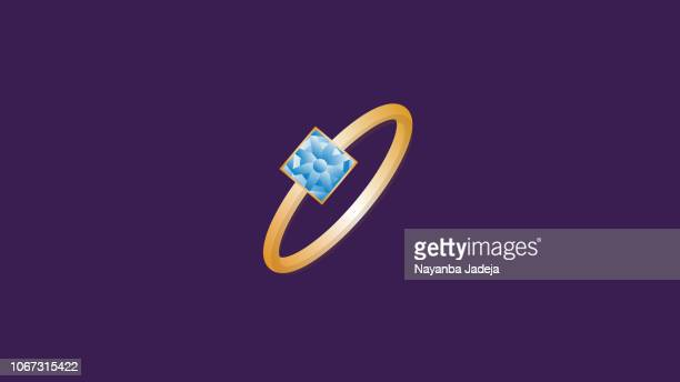 ilustraciones, imágenes clip art, dibujos animados e iconos de stock de anillo amarillo oro creativo icono - anillo de compromiso