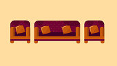 Creative hand made sofa vector
