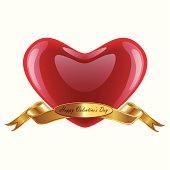 Creative happy valentines Day design.