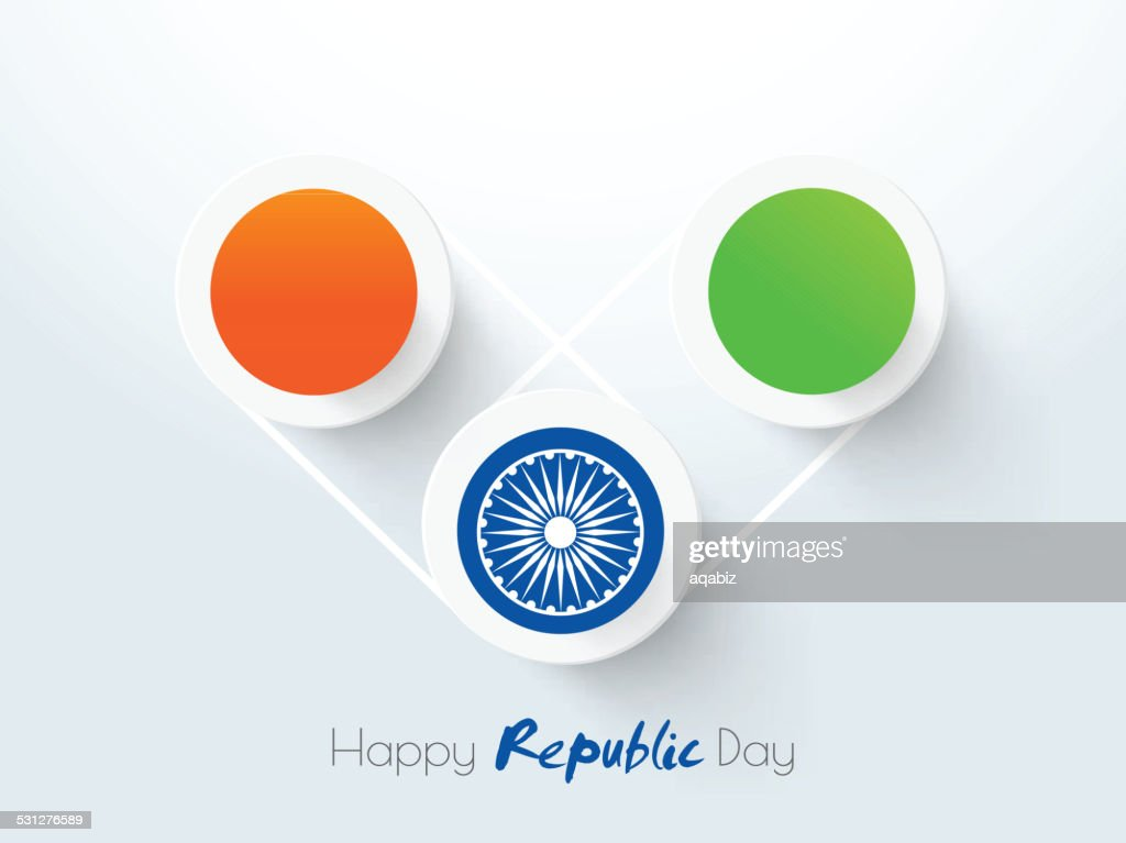 Creative heart shape for Indian Republic Day celebration.