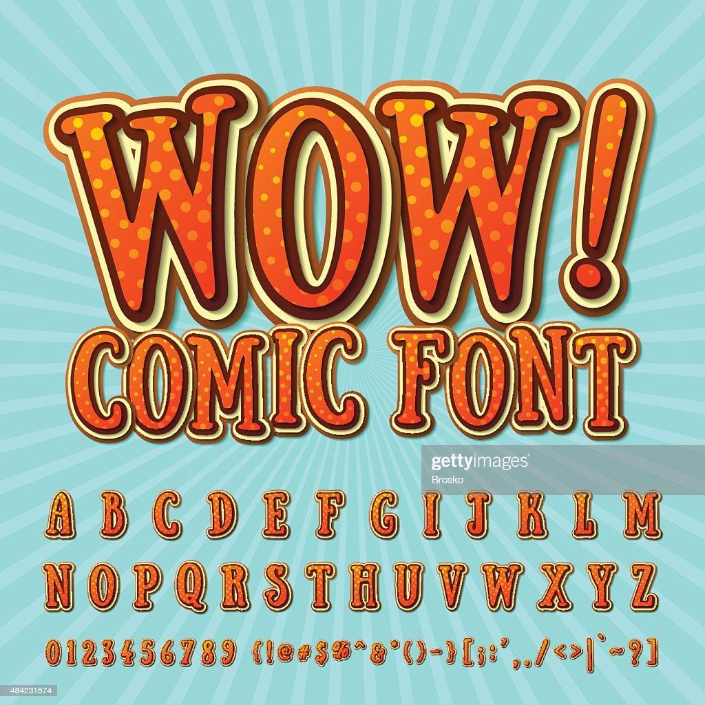 Creative high detail orange - chocolate comic font
