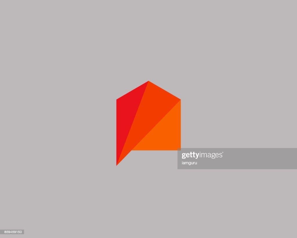 Creative house icon design template. Color vector icon sign icontype