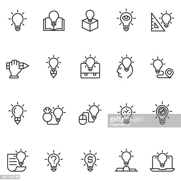 creative icon set - curiosity stock illustrations