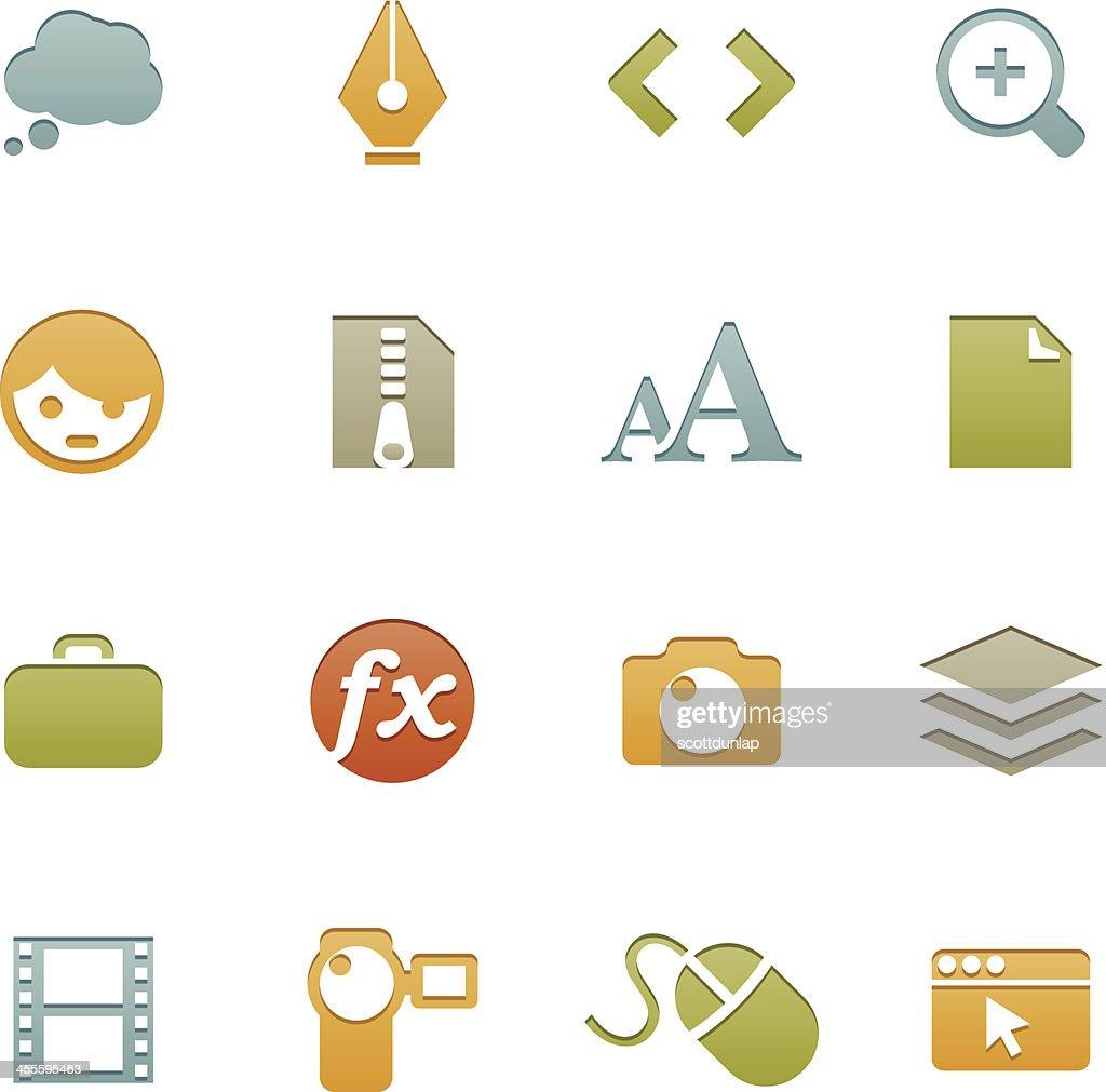 Creative Icons  | Letterpress Series