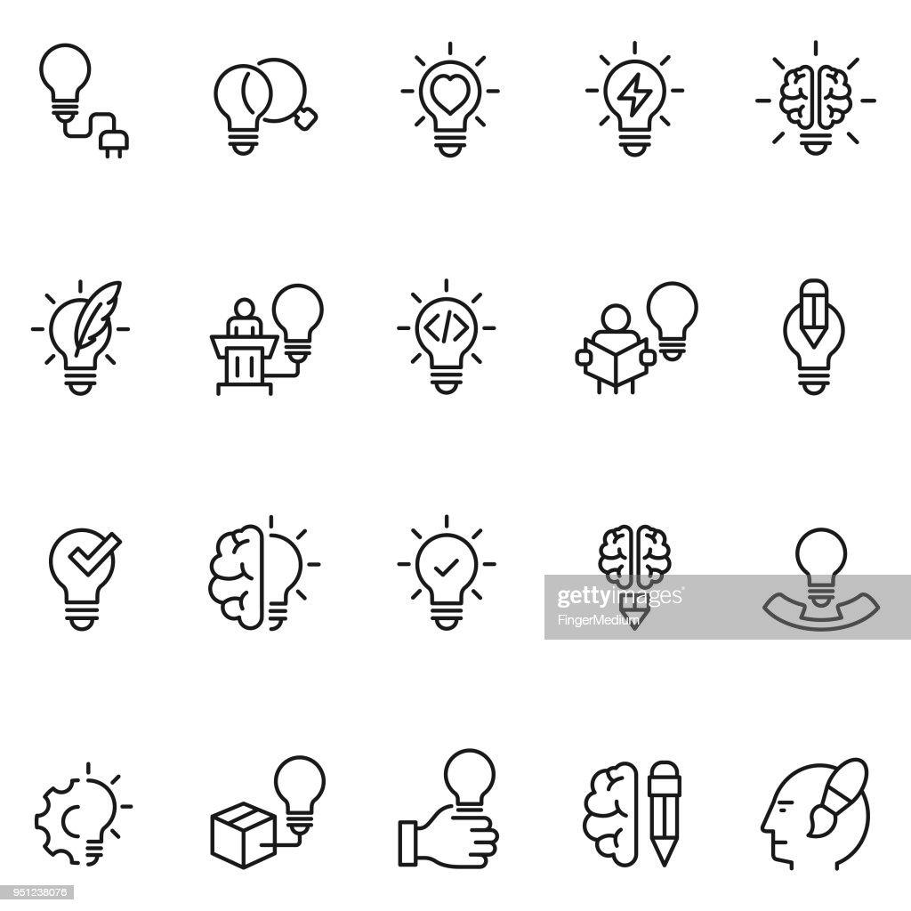 Icone creative : Illustrazione stock