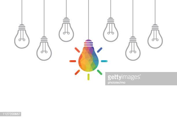 creative idea concepts with light bulb - variation stock illustrations