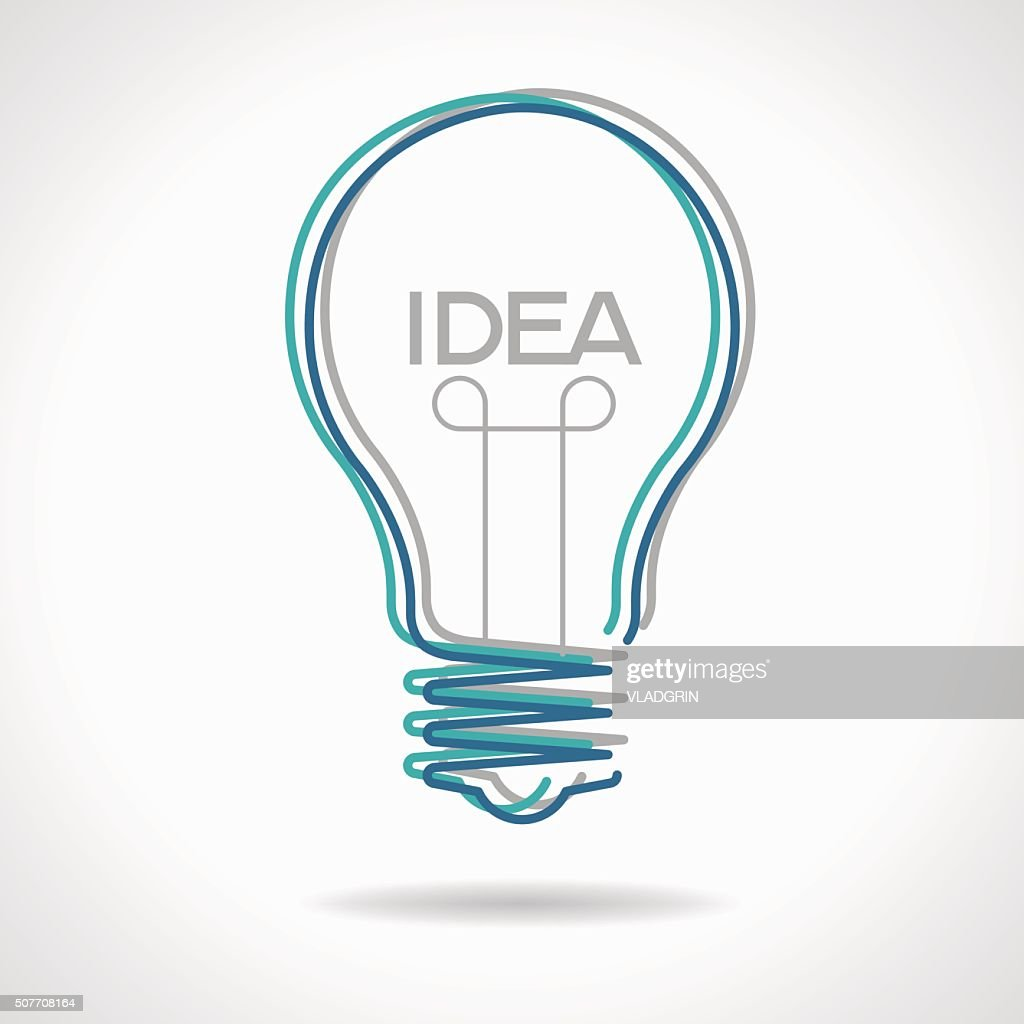 Creative idea in bulb shape