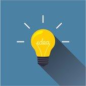 Creative idea in light bulb shape as inspiration concept.
