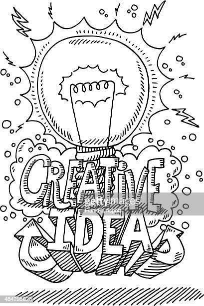 Creative Idea Lightbulb Drawing