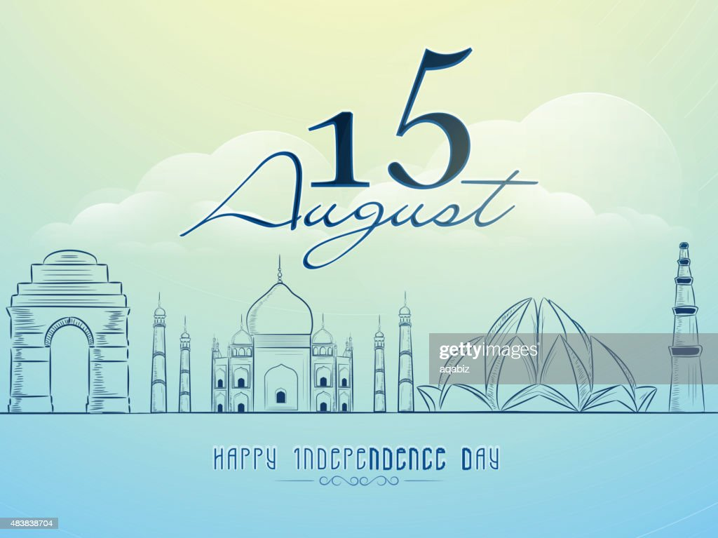 Creative illustration for Indian Independence Day.